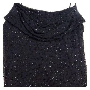 Marina Full Length Black Sequin Gown